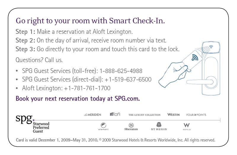 Aloft Smart Check In 2