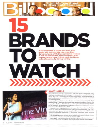 Billboard_15 Brands to Watch_ Sept 2010