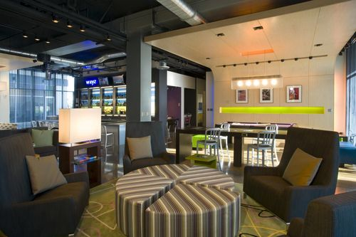 Lobby at Aloft Portland